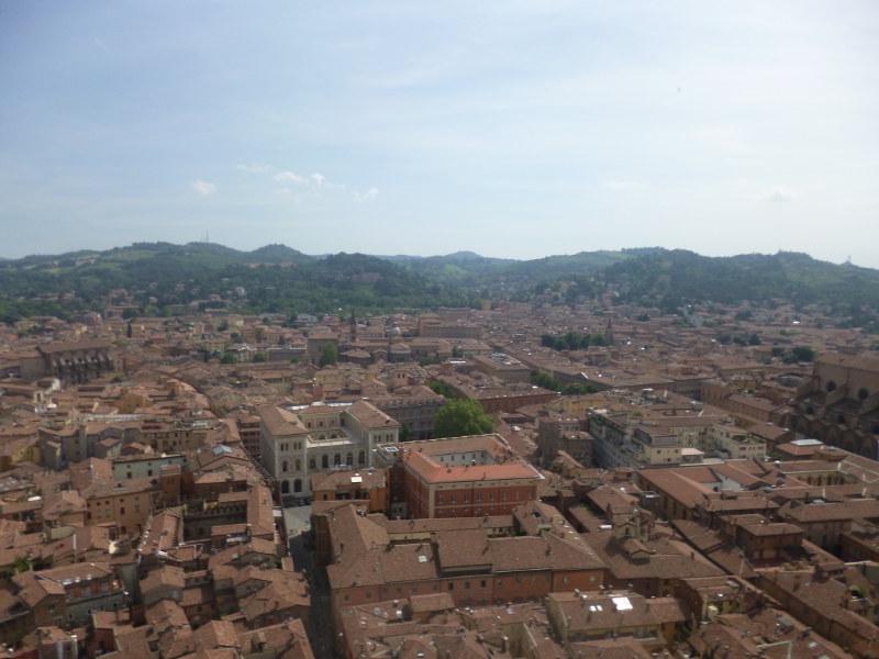 La vista di Bologna dalla Torre degli Asinelli