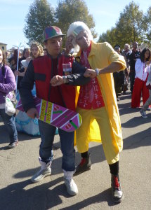lucca comics and games 2014 cosplayer back to the future