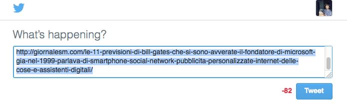 La Condivisione senza titolo su Twitter può sembrare spam