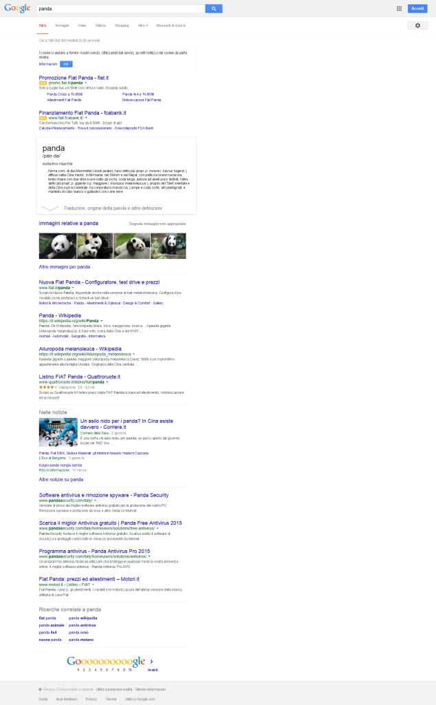 Tanti adorabili Panda nella mia ricerca