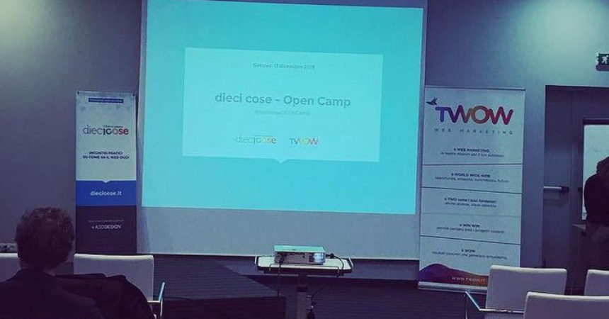 #diecicoseOPENCAMP