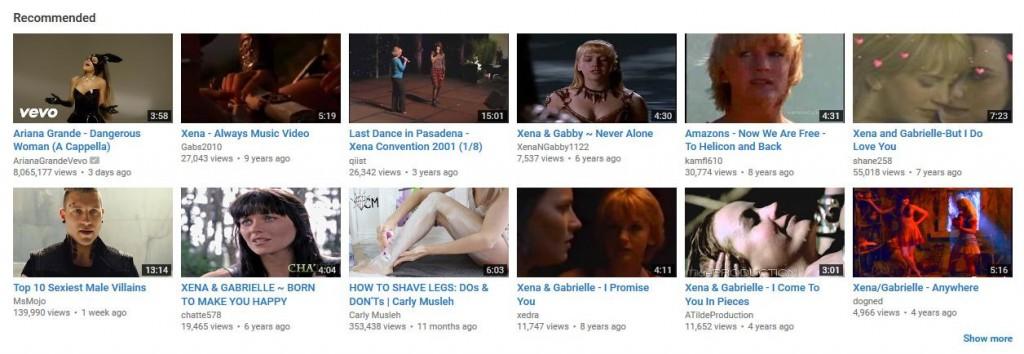 l'algoritmo di Recommended di Youtube