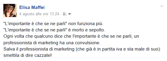 Il marketing dell'importante è che se ne parli