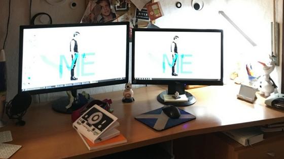 La mia scrivania e la sua organizzazione